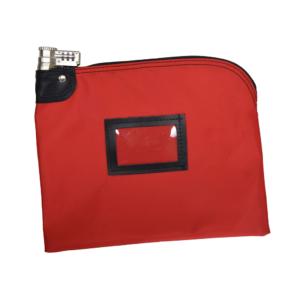 Red Combo Lock Deposit Bag