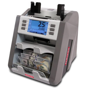 two-pocket currency discriminator with counterfeit detection